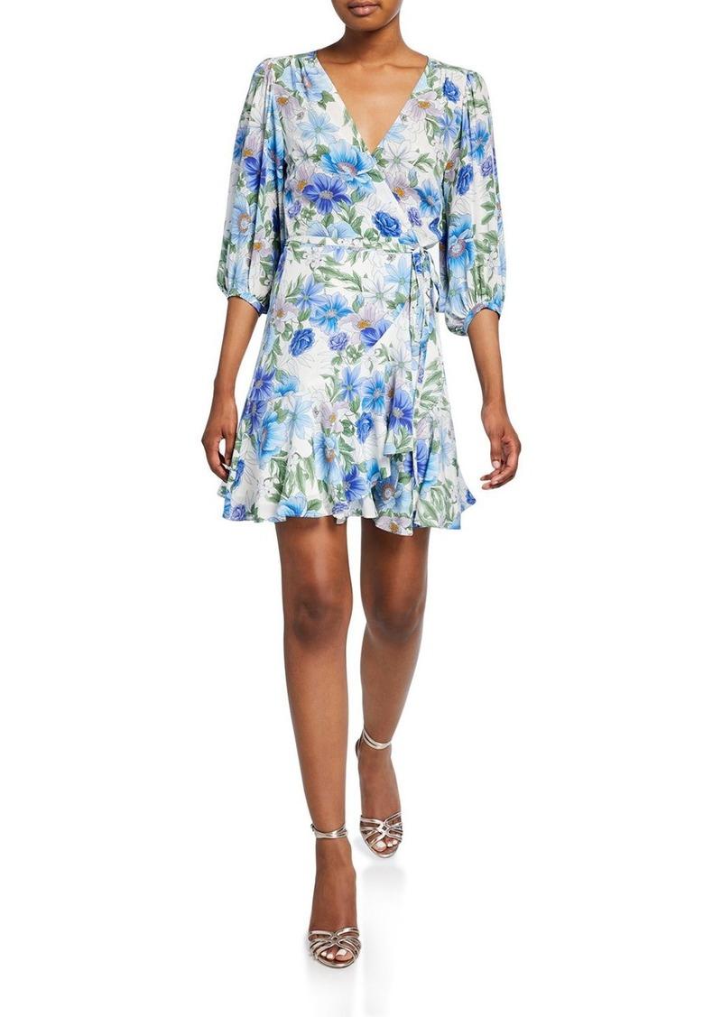 Yumi Kim Love Wins Floral Mini Wrap Dress