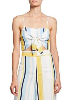 Yumi Kim Wild Child Striped Front-Tie Crop Top