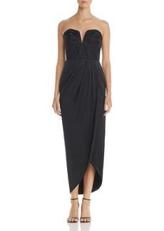 Yumi Kim Bombshell Silk Strapless Maxi Dress