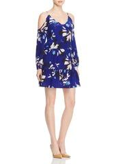 Yumi Kim Cold Shoulder Floral Silk Dress
