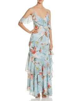 Yumi Kim Heart's Desire Tiered Ruffle Maxi Dress
