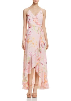 Yumi Kim Meadow High/Low Floral Wrap Dress