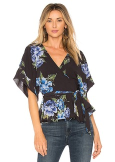Yumi Kim That's A Wrap Top in Black. - size L (also in M,S,XS)