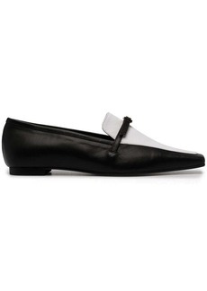 Yuul Yie two-tone squared-toe loafers