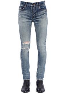 Yves Saint Laurent 15cm Skinny Destroyed Denim Jeans