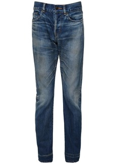 Yves Saint Laurent 17cm Logo Slim Fit Cotton Denim Jeans