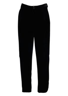 Yves Saint Laurent 17cm Shadow Stripe Velvet Crop Pants