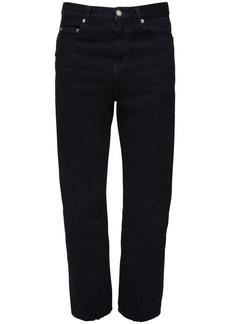 Yves Saint Laurent 20cm Logo Cotton Straight Jeans