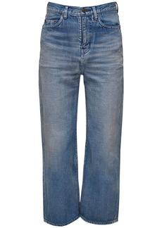 Yves Saint Laurent 20cm Straight Cotton Denim Jeans