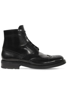 Yves Saint Laurent 20mm Army Leather Lace-up Boots