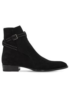 Yves Saint Laurent 30mm Wyatt Studded Suede Boots