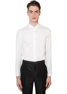 Yves Saint Laurent 3d Striped Cotton & Silk Shirt