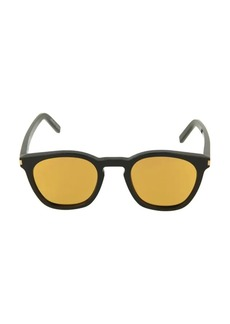Yves Saint Laurent 49MM Mirrored Square Sunglasses