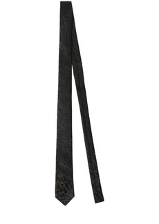 Yves Saint Laurent 4cm Leo Jacquard Silk Tie