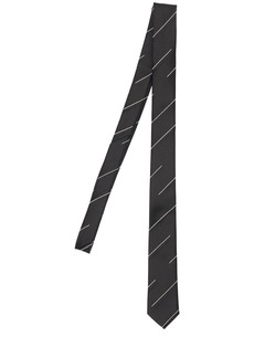 Yves Saint Laurent 4cm Stripe Jacquard Silk Tie
