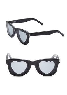 Yves Saint Laurent 50MM Classic 51 Heart Sunglasses