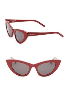Yves Saint Laurent 52MM Red New Wave 213 Lily Sunglasses