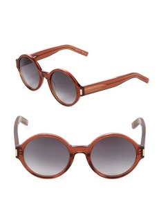 Yves Saint Laurent 52MM Round Sunglasses