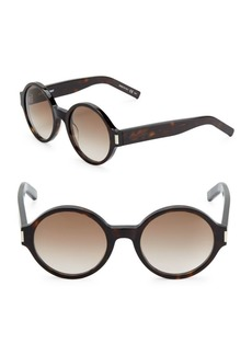 Yves Saint Laurent 52MM Rounded Sunglasses