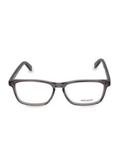 Yves Saint Laurent 55MM Rectangular Core Optical Glasses