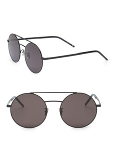 Yves Saint Laurent 56MM Aviator Sunglasses