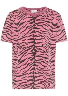 Yves Saint Laurent animal print T-shirt