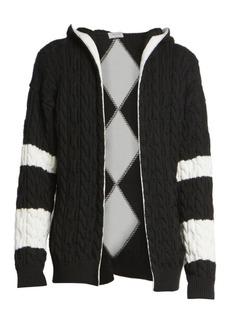 Yves Saint Laurent Baja Wool Cable Knit Open Front Cardigan