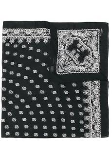 Yves Saint Laurent Bandana embroidered scarf