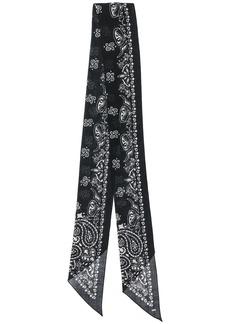Yves Saint Laurent bandana print scarf
