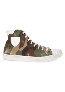Yves Saint Laurent Bedford Camo Canvas High-Top Sneakers