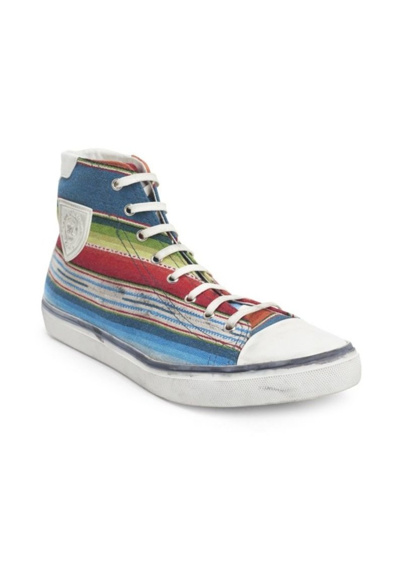 Yves Saint Laurent Bedford Leather High-Top Sneakers