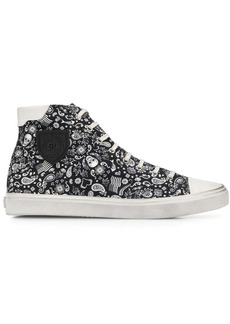 Yves Saint Laurent Bedford skull print sneakers