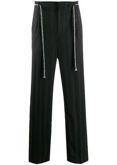 Yves Saint Laurent belted straight trousers