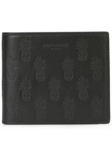 Yves Saint Laurent bi-fold pineapple wallet
