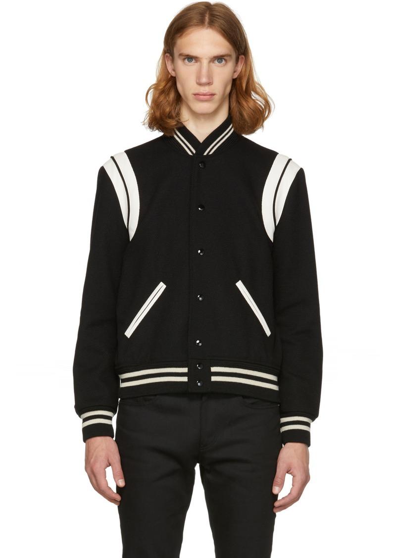 3e2df831 Black & White Teddy Bomber Jacket