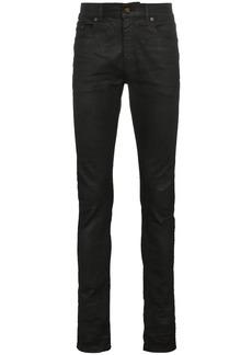 Yves Saint Laurent coated skinny jeans