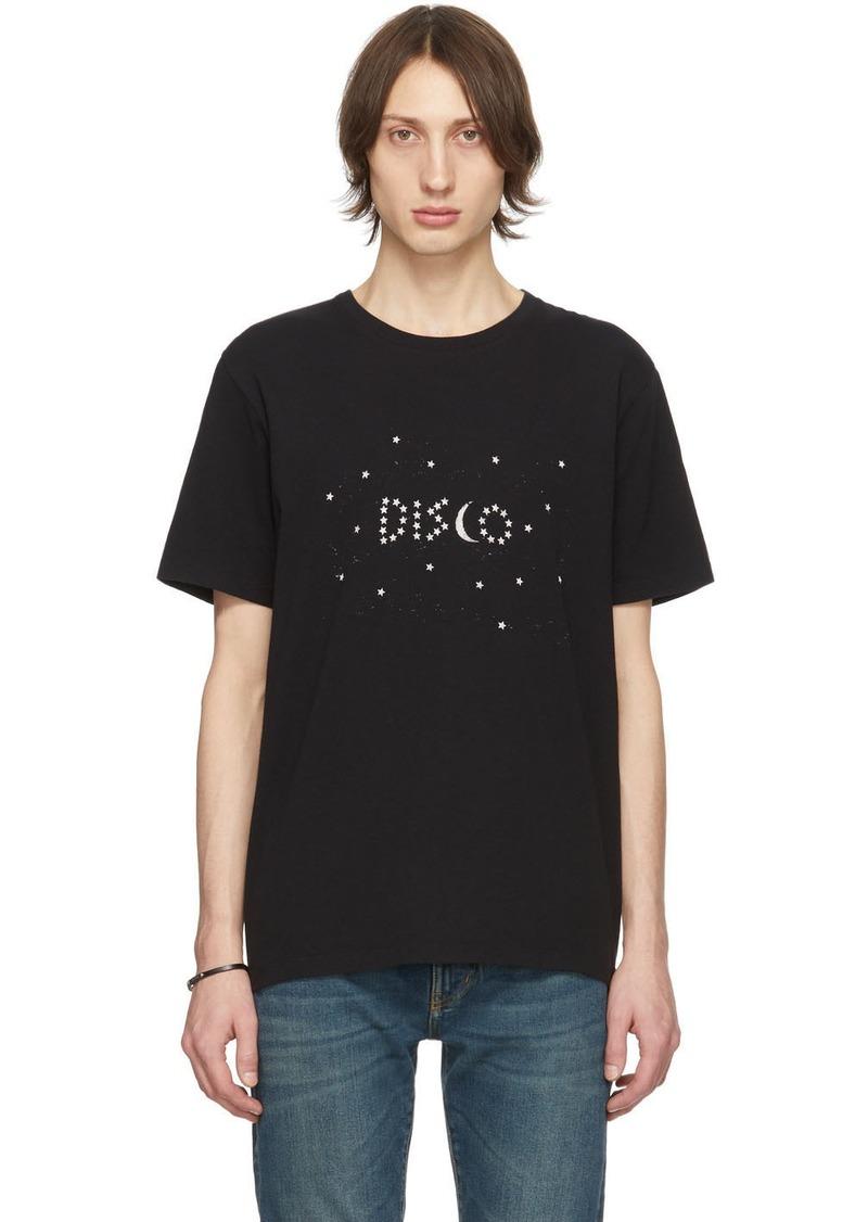 Yves Saint Laurent Black 'Disco' T-Shirt