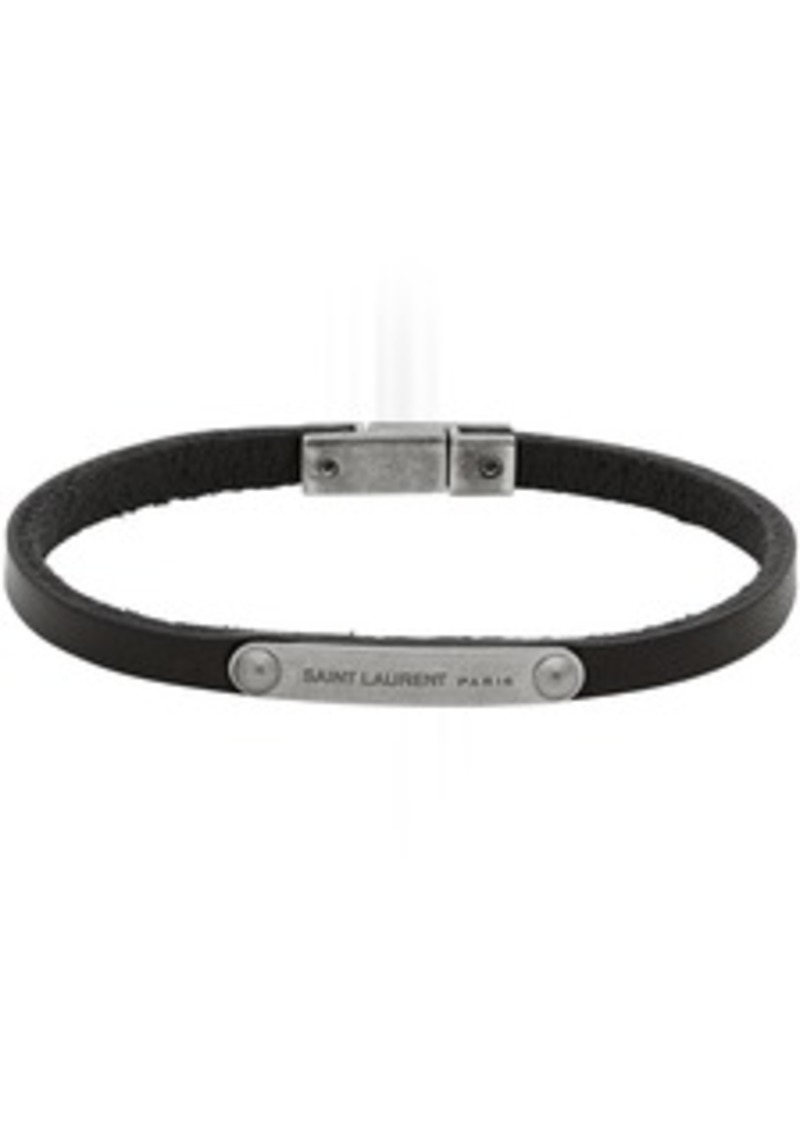 Yves Saint Laurent Black ID Plaque Bracelet
