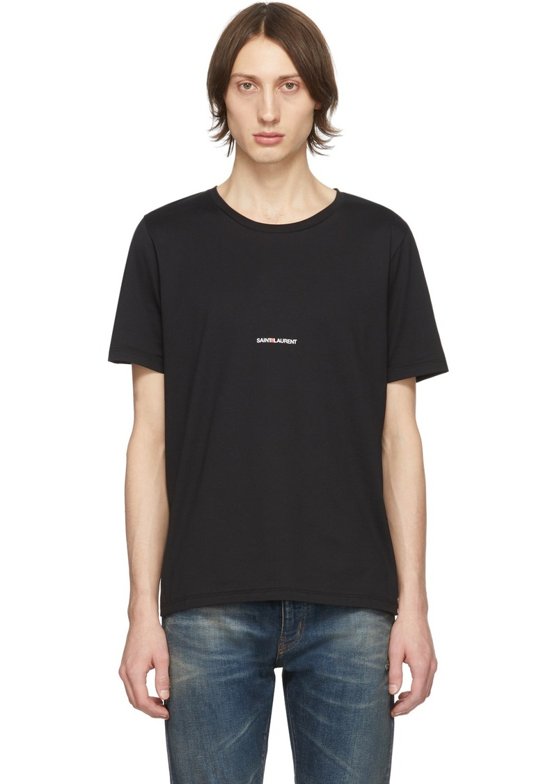 Yves Saint Laurent Black Logo T-Shirt