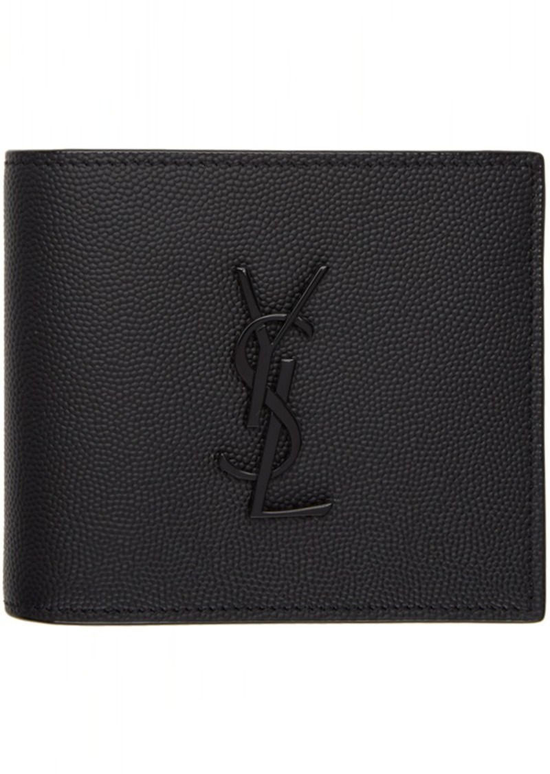 Yves Saint Laurent Black Monogramme East/West Wallet