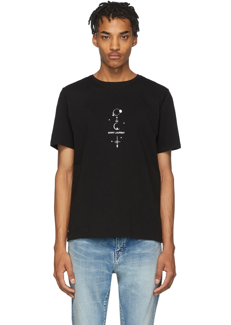 Yves Saint Laurent Black Mystique Print T-Shirt