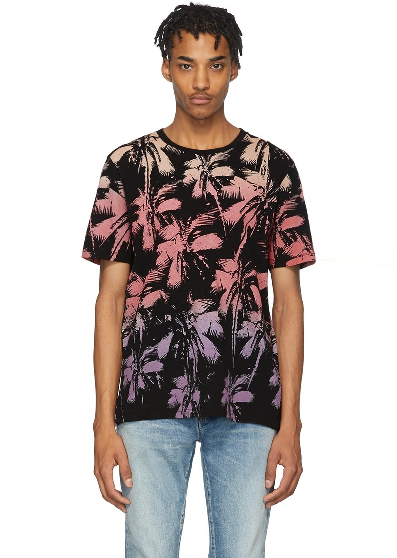 Yves Saint Laurent Black Palm T-Shirt