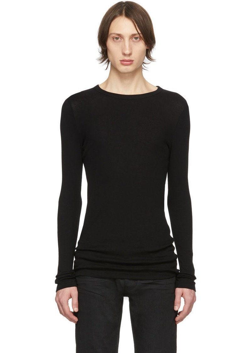 Yves Saint Laurent Black Ribbed Jersey T-Shirt