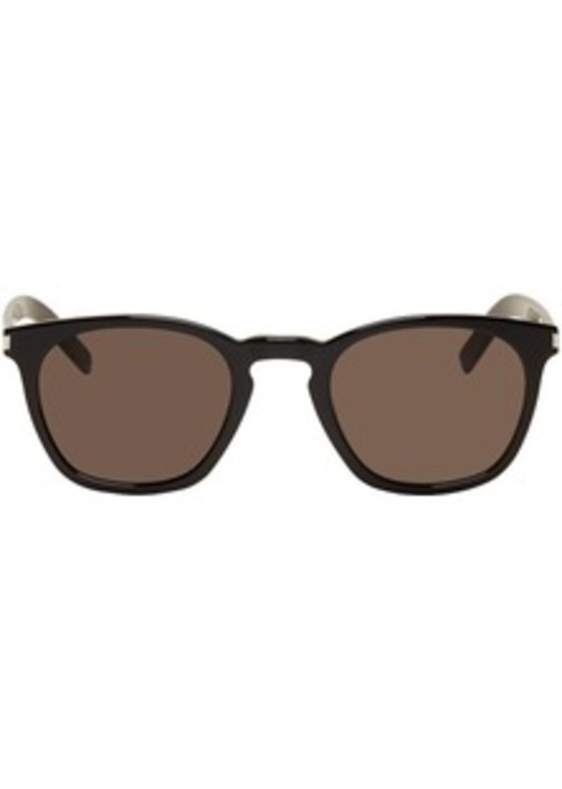 Yves Saint Laurent Black Slim SL 28 Sunglasses