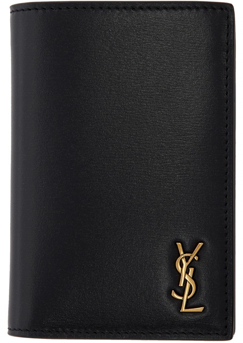 Yves Saint Laurent Black Tiny Monogramme Credit Card Holder