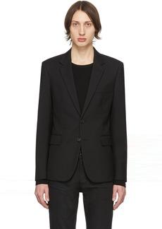 Yves Saint Laurent Black Wool Gabardine Blazer