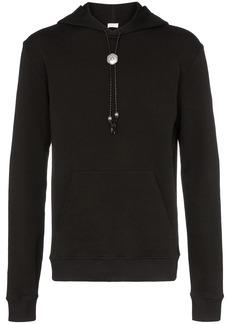 Yves Saint Laurent bolo tie detail hoodie