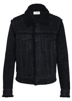Yves Saint Laurent Boyfriend Suede & Shearling Jacket