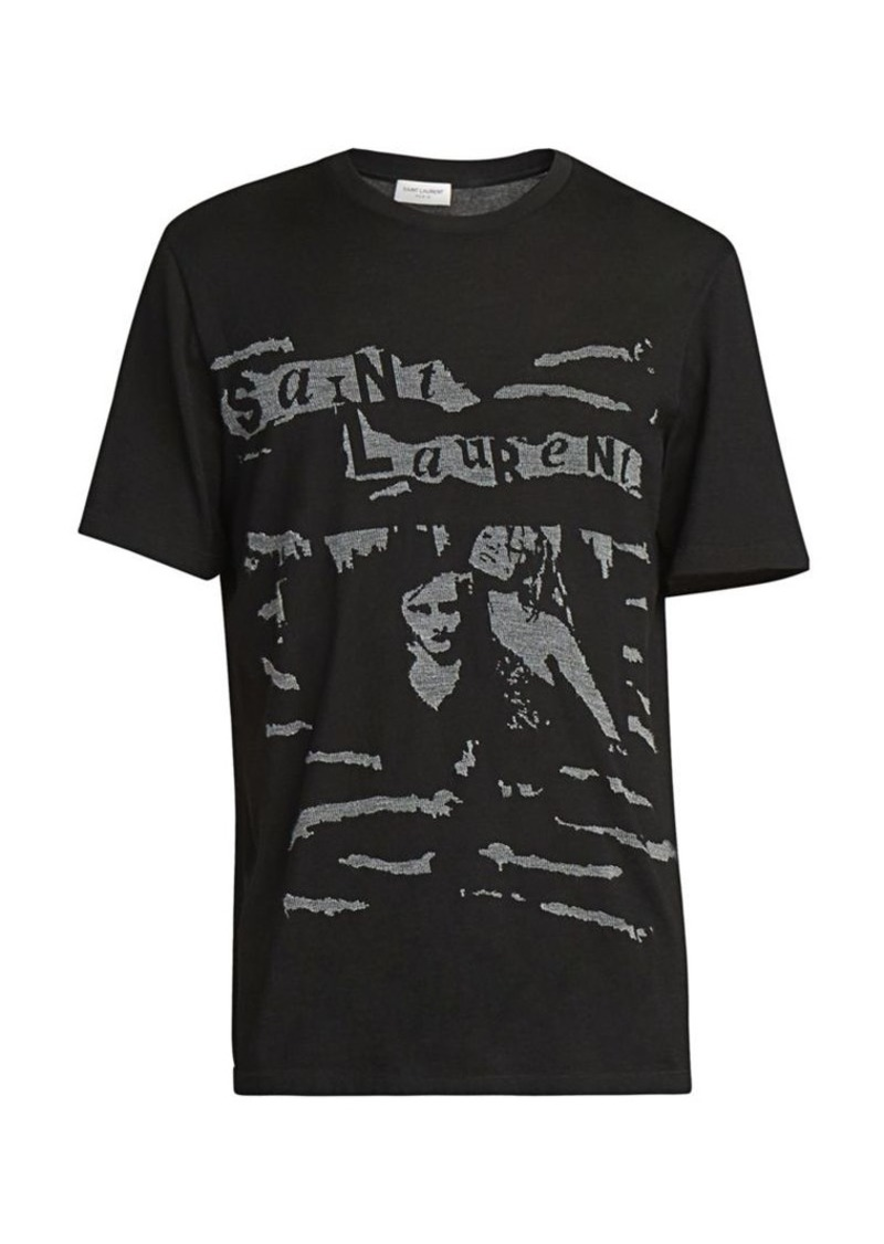 Yves Saint Laurent Brand Graphic Tee