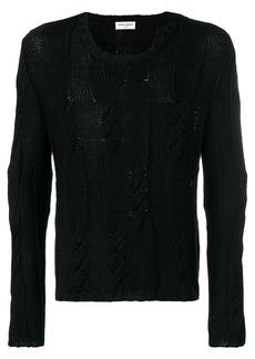 Yves Saint Laurent cable knit jumper